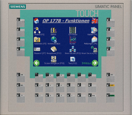 SIMATIC OP177B 6&quot, PN/DPSTN 256 COLOR DISPLAY TOUCH AND KEYS - 6AV6642-0DA01-1AX1