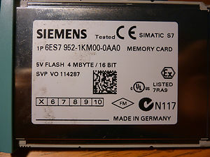 SIMATIC S7, MEMORY CARD FOR S7-400, LONG VERSION, 5V FLASH-EPROM, 4 MBYTES - 6ES7952-1KM00-0AA0