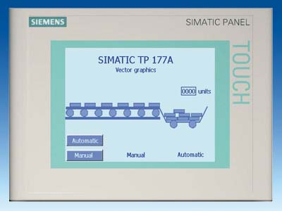 SIMATIC TOUCH PANEL TP 177A 5, 7&quot, BLUE MODE STN-DISPLAY - 6AV6642-0AA11-0AX1