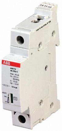 Arrester, type 2, industrial circuit protection, 3 phase, OVR series, single pole