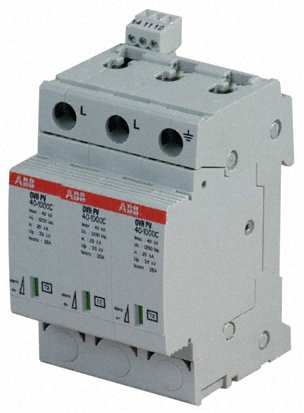 Arrester, type 2, industrial circuit protection, OVR series, single pole, 1000V