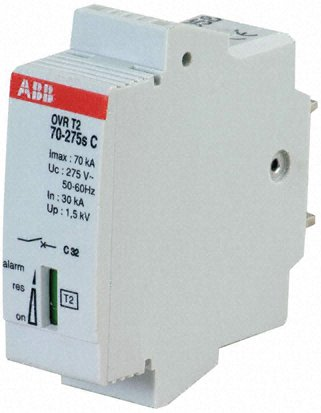 Arrester, type 2, industrial circuit protection, cartridge, OVR series, single pole