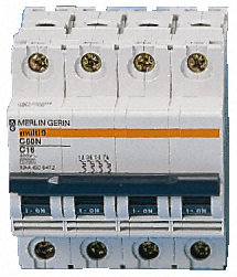 Switch, disconnector, 4 poles, 100A, 380/415V
