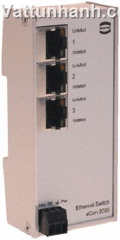 Connector, industrial ethernet, switch, horizontal, RJ45, 3 port