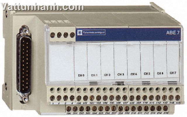 PLC, interface, analogue input, current, voltage, PT100, 0.25A, 24Vdc, telefast 2, 8 channel, ABE7CP