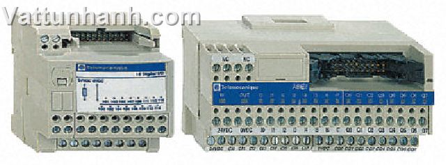 PLC, interface, relay input, sub base, telefast 2, volt free, 10mm relay width, 16 channel, ABE7P16T