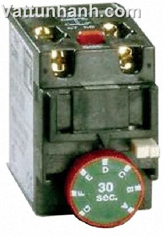 Timer, off delay, 0.1-3sec, 1N/O + N/C, contactor, 10A, front mounting